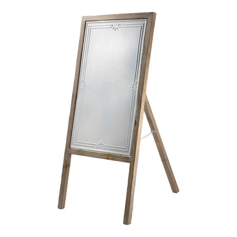A-BOARD 105X48CM WHITE/BROWN