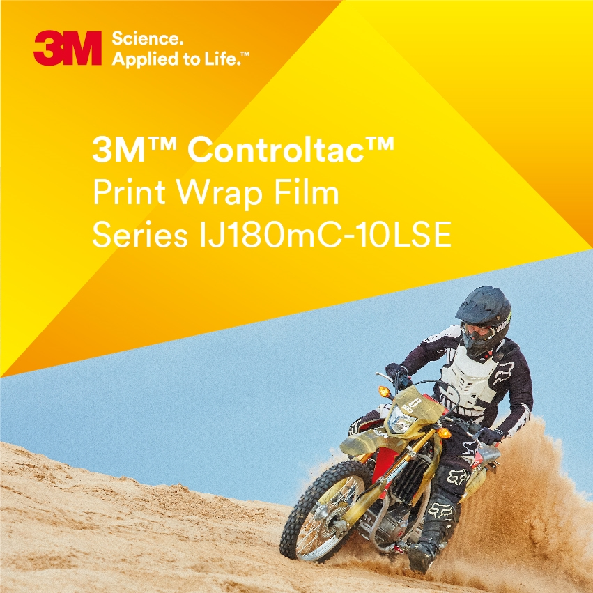 3M™ Controltac™ IJ180mC-10LSE Low Surface Energy