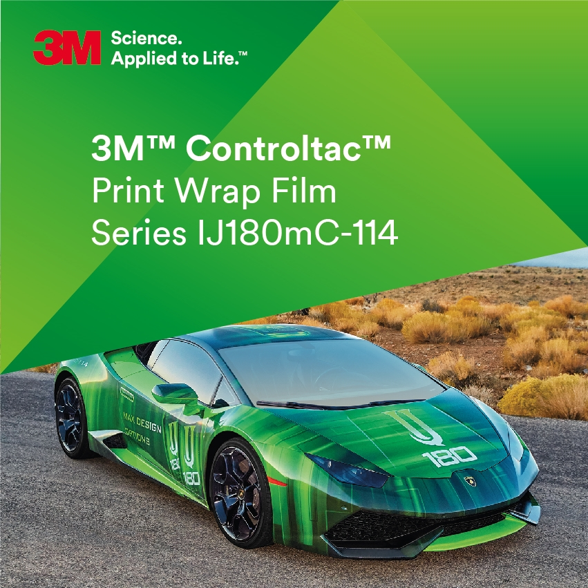 3M™ Controltac™ IJ180mC-114 Transparent blank